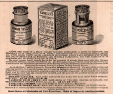 AD LOT OF 3 1881 -90'S ADS VASELINE PRICE LIST QUACK PACKAGING DIPTHERIA CURE