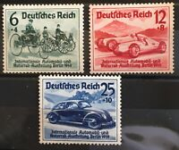 Germany 3 rd Reich1939 Mi 686-8 Sc B134-6 Auto - Mcycle Exposition Berlin MNH **