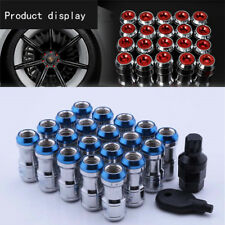 20 Pcs M12 X1.5 Car Plum Lug Wheel Hub Anti-theft Nuts Screws Blue Alloy Steel