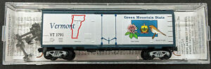 MTL Micro-Trains N Scale 40' State Series BoxCar - Vermont VT #1791 USA 2006