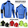 Mens Cycling Jacket Winter Thermal Fleece Windproof Windstopper Long Sleeve Coat