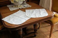 LOT 2 Seat Cushion Covers for Lloyd Loom Chair Vintage French White Pillow Cases