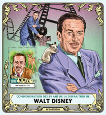 Niger 2016 MNH Walt Disney 50th Memorial Anniv 1v S/S Celebrities Deer Stamps