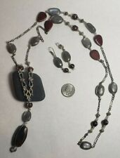 SUPER VINTAGE UNIQUE WIRE WRAPPED  NECKLACE & EARRINGS SET Handcrafted NEW