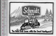 Snowmobile & Schmidt Beer 1970 Promo The Brew that Grew with the Northwest grey