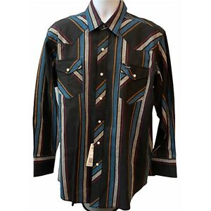 Wrangler Mens Vintage NWT Western Pearl Snap Button Up X-Long Tails Size 18-35