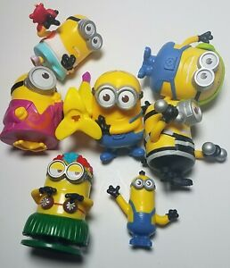 MINIONS Lot Of 7 Despicable Me Action Figures Toy Movie McDonalds Collectibles
