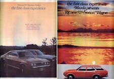 Two 1973 MAZDA 929 HARDTOP SEDAN & WAGON Large Format 6 Page Brochures