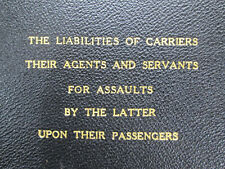 Liabilites of Carriers to Passenger College Thesis Georgetown University 1924