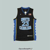 f8294677c37 Michael Jordan #23 Tar heels North Carolina Basketball Jersey Black Men