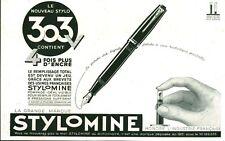 Publicité ancienne nouveau stylomine 303 1942  issue de magazine