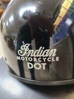 Lot Of 3 Motorcycle Helmets 1 Indian Motorcycle Lg. 1LG & XL DOT FMVSS N.218