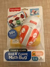 Fisher Price Roll & Count Math Bug game problem solving New! toddler game