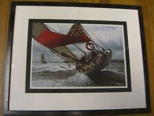 Velsheda of Porthsmouth  Framed Art Print by Philip Plisson, 14x10