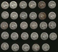 Bulk Washington Silver Quarters Set of 29 Coins with FREE Shipping