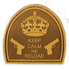 3D PVC Keep Calm & Reload Tactical Military Army Airsoft Morale Patch Coyote Tan