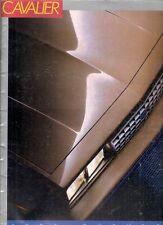 Chevrolet cavalier 1987 usa market sales brochure standard cs rs Z24