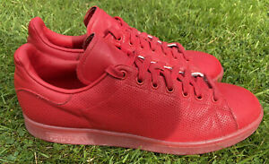 Adidas Stan Smith Mens Trainers Red/Scarlet,UK Size 11 - EXCELLENT CONDITION