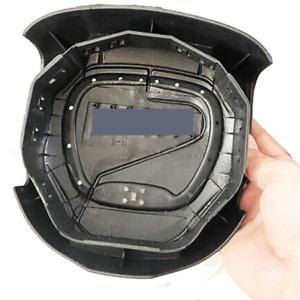 Black Plastic Shell Steering Wheel Horn Cover w/ Emblem For Dodge Challenger SRT