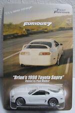 Fast Furious 7 Brian's White 1998 Toyota Supra Paul Walker Tribute Scene
