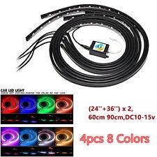 12V RGB LED Strip Under Car Tube APP Underglow Underbody Glow System Neon Light