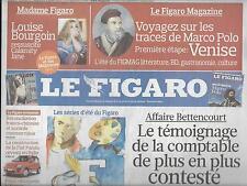 LE FIGARO N°20509 10/07/2010  AFFAIRE BETTENCOURT/CONTADOR/ ROCARD/ LETTONIE