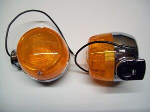 Paar Blinker Chrom Original CEV 173 (Neu) für Motorrad Alter 60/70/80/90