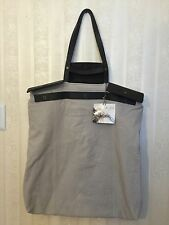 Jas M.B. London Extra Extra Large Tote Shopper Bag Luggage Grey Pebble Leather