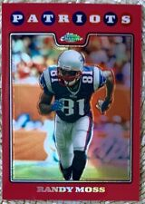 2008 TOPPS CHROME RED COPPER BLUE REFRACTOR LOT /25/425 RANDY MOSS CARDREGISTRY