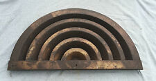 Antique Art Deco Air Vent Grille Arch Top Half Round Decorative 13x26 1453-16