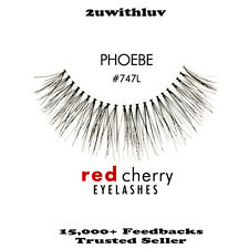 3 X RED CHERRY 100% HUMAN HAIR BLACK FALSE EYE LASHES #747L