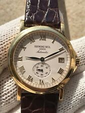 RAYMOND WEIL 2835 AUTOMATIC TRADITION GOLD PLATED MENS 36.5mm SWISS.SERVICED
