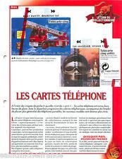 FICHE Télécartophilie Carte téléphonique Telephone Télécarte Pompier FIREFIGHTER