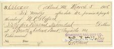 March 1906 Oakland Maine Somerset Railroad $65,000 promissory note M K Stafford