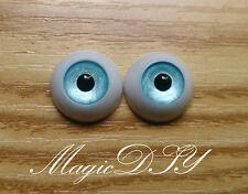 12mm Hand Made BJD Doll Eyes Pearlized Blue Acrylic Half Ball