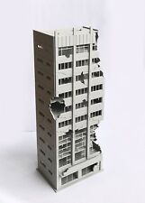 Outland Models Railway Scenery City Damaged Abandoned Office Building N Scale