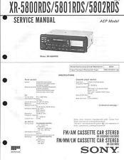 Sony Original Service Manual für CAR XR-5800RDS/5801RDS/5802RDS