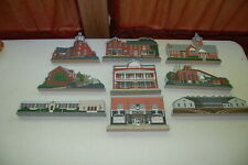 Set Of 8 Saxton-Liberty Sesquicentennial Historical Wood Painted Bldgs