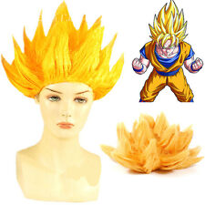 Anime DragonBall Z Super Saiyan Son Goku Toupee Hair Cosplay Periwig  Costume Wig 42be5d6e4015