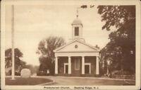 Basking Ridge NJ Presbyterian Church c1920s Postcard