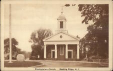Basking Ridge NJ Presbyterian Church c1920s Postcard