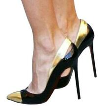 Women's Slip On Pointy Toe Stilettos High Heel Party Banquet Pumps Shoes 44/47 L