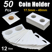 50x 17.5-40mm Assorted Mylar Cardboard Coin Holder Lighthouse Cover