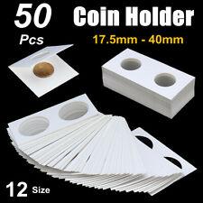 50x 17.5-40mm Assorted Mylar Cardboard Coin Holder Lighthouse Cover