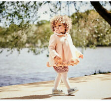Monsoon Pink Ava Iris Flower Rose Baby Girls Warm Coat 3 - 24 Mths to 2 - 3 Year