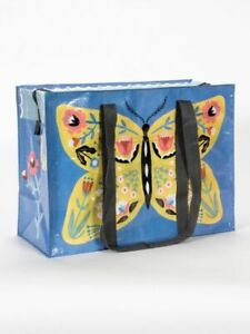 """Butterfly Blue-Q Shoulder Tote New Reusable 11""""h x 15""""w x 6.25"""" Bug Fashion"""