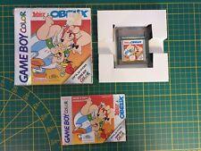 RARE NEUF GAME BOY GAMEBOY COLOR GBC BOXED BOITE ASTERIX & OBELIX CGB-AQLP-FAH