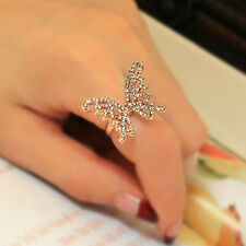 Elegant  Women Rose Gold Filled with AAA CZ Hollow Butterfly Shape Ring  Size 7