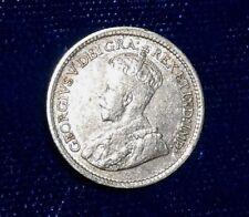 Canada 1919 silver AU five cents