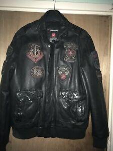 Redskins leather jacket Black XL